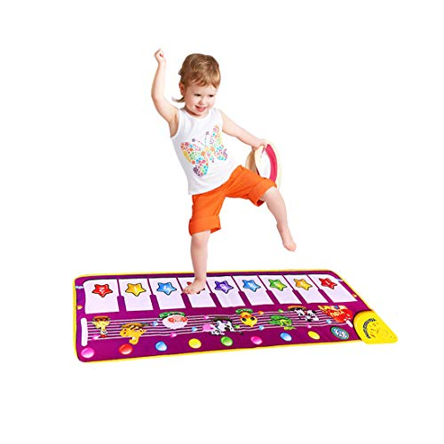 SGDD Piano Musical Mat, Musical Piano Keyboard Dance Mat Baby Touch Play Mat Early Education Toys for Little Boys Girls Babies Toddlers Birthday Christmas Xmas Presents Gifts for 1-4 Year Old Kids