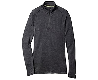 Smartwool Men's Base Layer Top - Merino 250 Wool Active 1/4 Zip Outerwear Charcoal CHARCOAL M Mens