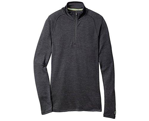 Smartwool Men's Base Layer Top - Merino 250 Wool Active 1/4 Zip Outerwear Charcoal