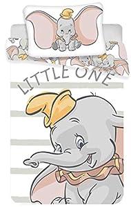 Juego de ropa de cama para bebés Dumbo, 2 piezas 100% algodón, tamaño: 100x 135cm, 40x 60cm, certificado Öko Tex Standard 100