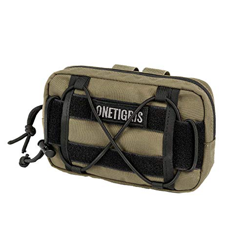 OneTigris EDC Horizontal MOLLE Pouch for Tool Treat Med (1 Pack, Coyote Brown)