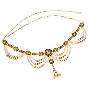 Sanjog Embellished Gold Plated Temple Kamarband Belly Chains for Women…