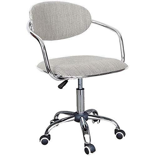 PLAYH Sedia da Ufficio Girevole Ergonomica Tavolino da caffè Sedia da Computer per Ufficio Domestico Sedia da Scrivania Design in Metallo Regolabile in Altezza