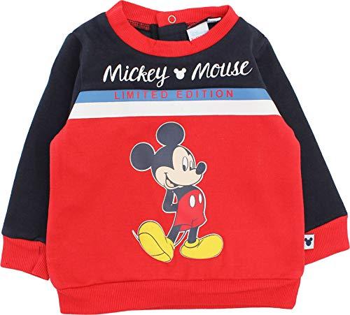 Disney Mickey Mouse - Felpa con cappuccio per bambini, edizione limitata Rosso 24 Mesi