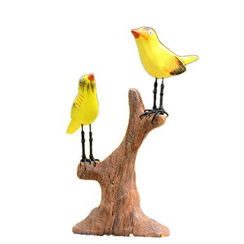 DeepBlue Gardens2you - Uccello in Legno per Giardino delle Fate, Dipartimento di Sen Dipartimento di Giardinaggio in Miniatura Americana, Accessori per la Decorazione della casa, Idea Regalo