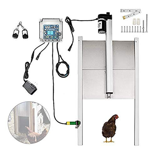 TZUTOGETHER Automatic Chicken Coop Door Opener Kits with Light Sensor Design, Advanced Infrared Induction Design and Waterproof Remote Control for Chickens, Hens, Ducks Coop Door