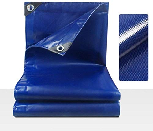 JT- Engrosada a Prueba de Lluvia de Tela Impermeable de protección Solar Lona de camión Lona Lona corrediza Lona Cuchillo limpiaparabrisas Duradero (Color : Blue, Size : 4X4M)