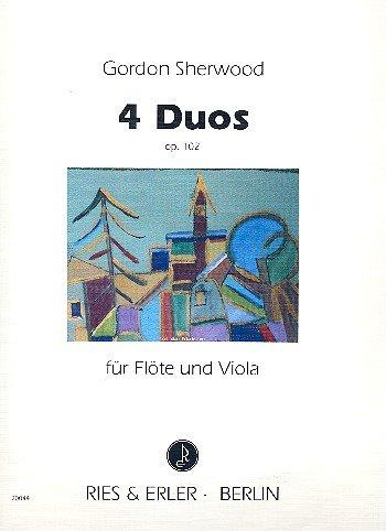 4 Duos op.102 : für Flöte und Viola 2 Spielpartituren