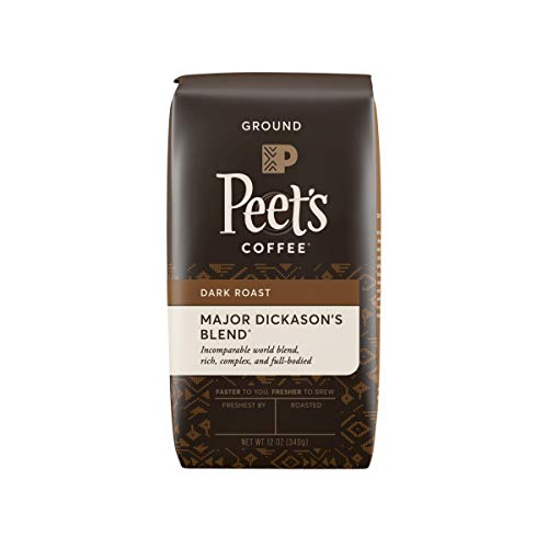 Peet's Coffee Major Dickason's Blend, Dark Roast Whole Bean Coffee, 12 oz