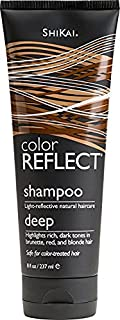 ShiKai - Color Reflect Daily Moisture Shampoo, All Shades of Brown Hair Take on a Deeper Glow, Adds Weightless Body & Shine, Helps Protect & Extend Color Treated Hair (Unscented, 8 Ounces)