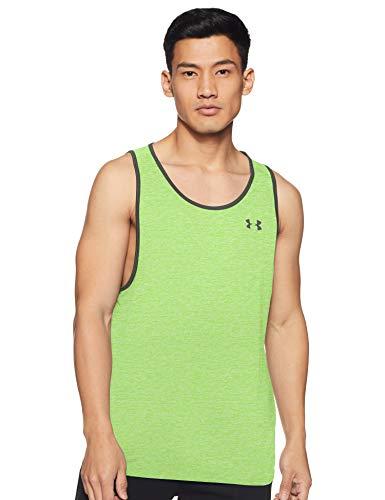 Under Armour Herren Tank Ua Tech 2.0 sportliches Muskelshirt aus superweichem Stoff, ärmelloses Sportshirt mit enganliegender Passform, Grün, LG