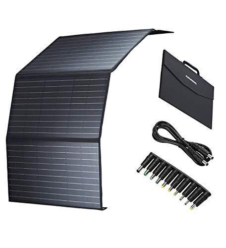 GRUNDIG faltbares Solarmodul 100W, monokristallines Solarpanel mit 2-USB Ports & 1 DC Port & 1Type-C für Wohnmobil, Gartenhäuse, Boot