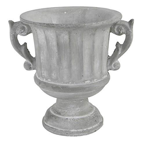 Objektkult Pflanztopf Amphore/Klassische Amphorenform aus Zement in Betonoptik, Maße (H x Ø): 22 x 19,5 cm Edles Pflanzgefäß für den Innenbereich. An trockener Stelle frostsicher bis -10°C.