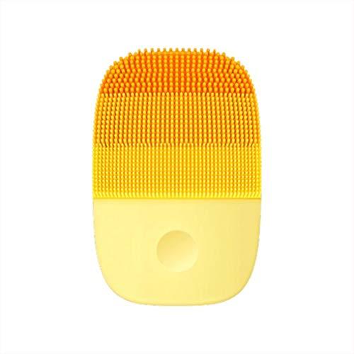 TAOtTAO Xiaomi inFace IPX7 cepillo eléctrico de limpieza facial profunda, cepillo sónico para el cuidado de la piel facial, silicona para el cuidado de la piel, naranja