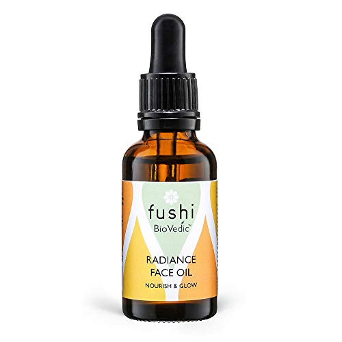 Fushi Biovedic Radiance Face Oil 30ml | Fresh Pressed | Ayurvedic Herb Manjisthta, Kalahari Melon Seed & Raspberry Seed | Best For Dull Skin, Fine Lines & Dry Skin Relief | Manufactured In The UK