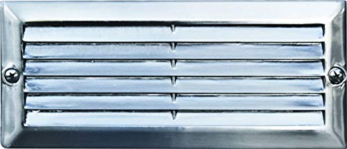 DABMAR LIGHTING LV600-SS Cast Aluminum Recessed Louvered Brick/Step/Wall Light, Electro-Plated Stainless Steel