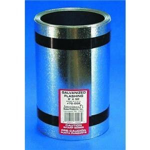 AMERIMAX HOME PRODUCTS 70008 8-Inch x 50-Feet Galvanized Flashing by Amerimax Home Products