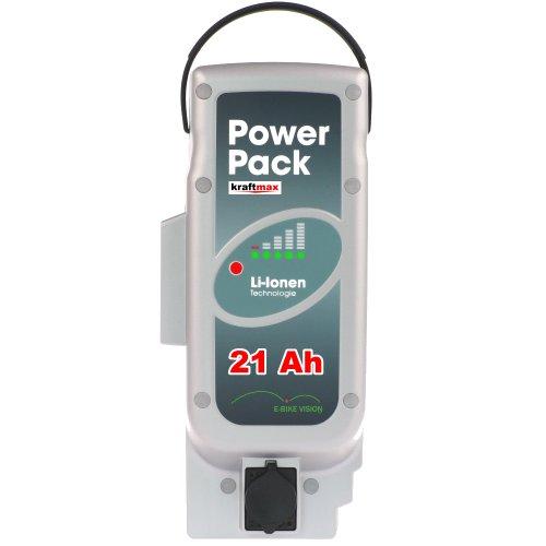 Vision Powerpack E-BIKE Akku - 26V / 21Ah [ 546 WH ] - NEUESTE VERSION - für PANASONIC Kalkhoff Flyer Raleight Victoria ebike Pedelec Ersatzakku Power Pack - Kraftmax Edition