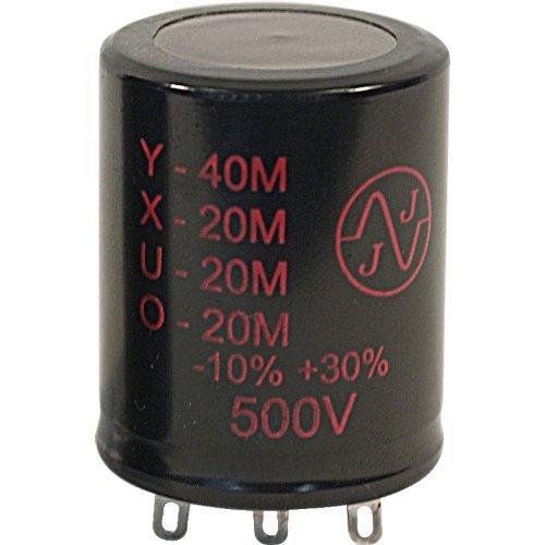 Capacitor - Electrolytic, 40/20/20/20 µF @ 500 VDC, JJ Electronic