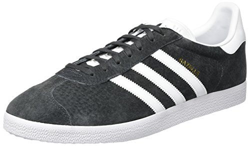 adidas Gazelle, Zapatillas de deporte Unisex Adulto, Gris (Dgh Solid Grey/White/Gold Metallic), 46 EU