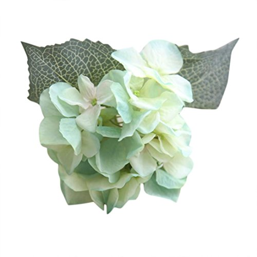 Soie Artificielle Fake Fleurs Hortensia Bouquet de Mariage Floral Party Decor Amlaiworld (C)