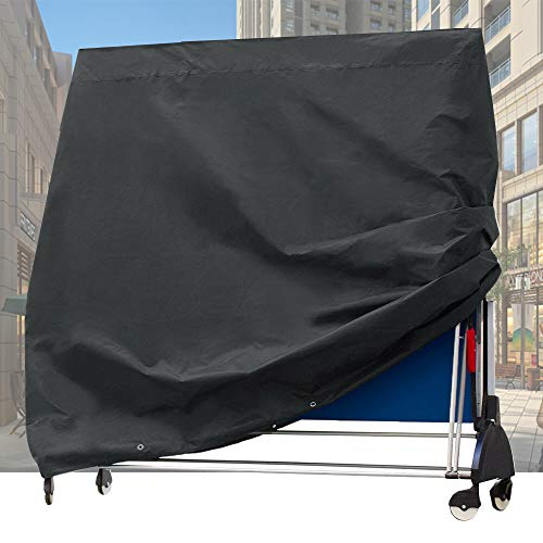 Shoze Full-size Table Tennis Table Cover Waterproof Windproof UV Resistant Heavy Duty Tear-resistant 210D Oxford Cloth Table Tennis Table Cover Indoor/Outdoor 165 * 70 * 185CM