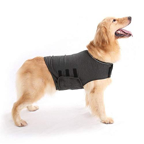 yinyinpu Panikgeschirr Für Hunde Beruhigungswesten Medizinische Haustierhemden für Hunde Medizinisches Haustier Shirt Hund Hund Stressabbau Gray,M