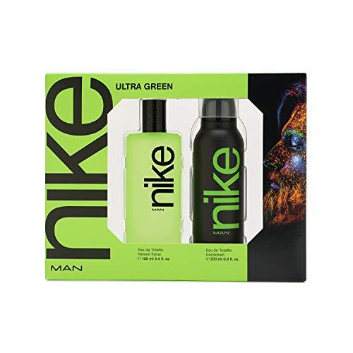 Nike - Ultra Green Estuche de Regalo para Hombre, Eau de Toilette 100 ml y Desodorante en Spray 200 ml