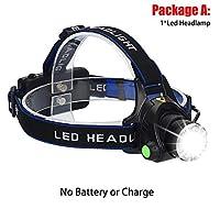 8000LM LEDヘッドランプヘッドライト防水ヘッド懐中電灯額ヘッドライトトーチ狩猟採掘釣りライト 釣りアドベンチャーなど (Body Color : T6 LED, Emitting Color : Option A)