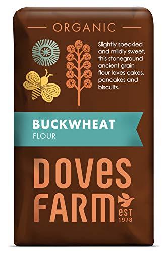 Doves Farm Organic Stoneground Wholemeal Buckwheat Flour, 5000 Gram, (Pack...