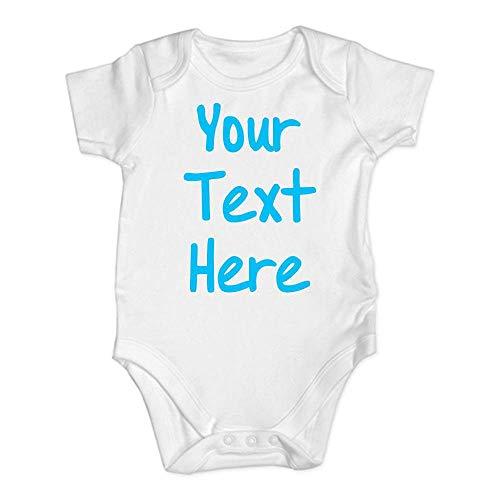 YEBIRAL - Sprüche Baby - Your Text Here - Druck Personalisiert Babykleidung Strampler Unterwäsche - Baby Body Kurzarm für Jungen und Mädchen