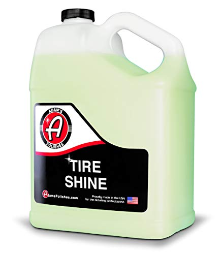 Adam's Tire Shine Gallon - Spray Tire Dressing W/ SiO2 For Non Greasy Car Detailing | Use W/Tire Applicator After Tire Cleaner & Wheel Cleaner | Gives A Ceramic Coating Car Wax Like Tire Protection