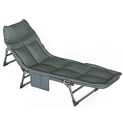 AMAFS Sillas reclinables para Muebles de Patio Sillas de Gravedad Cero, Respaldo de 5 Engranajes Sillón reclinable Ajustable para jardín, para el Sol, Cama Individual Plegable, Cama de Descanso para