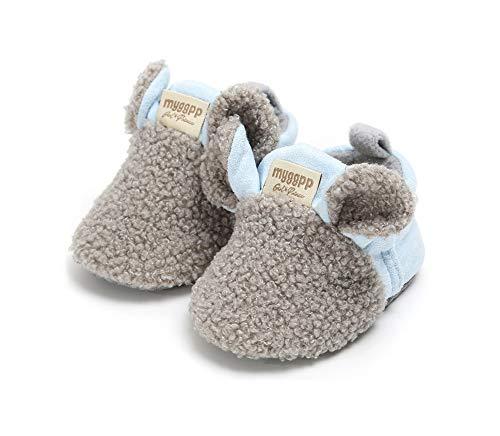 Little Beauty Premier Pas Bebe - Zapatos para niña/niño, Gris (color 2), 6-12 mois