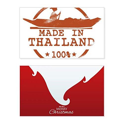 Koninkrijk Thailand kajakken Illustratie vakantie vrolijke kerstkaart Kerstmis Vintage bericht