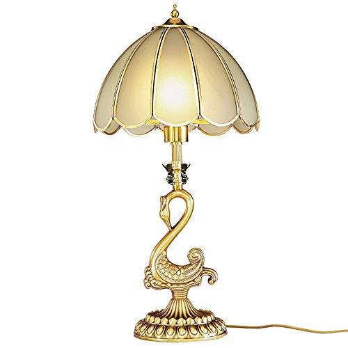 Lámpara Escritorio Todo el cobre lámpara de vidrio antiguo pantalla de la lámpara del hogar todo el material de cobre dorado lámpara de mesita de noche lámpara lámpara de luz lámpara de sala de estar