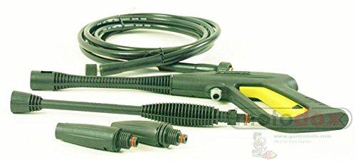 Parkside Spritz Pistole Set PHD 100 A, A1, B2, C2, D2 bestehend aus Pistole, Hochdruck Schlauch, Hochdruckdüse, Flachstrahldüse