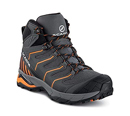 Scarpa Men's Maverick Mid GTX Hiking Boots Iron Grey/Orange 44 & Glove Bundle