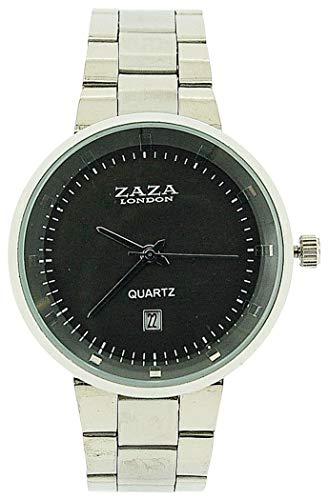 ZAZA London MMB640PNP/Grey - Orologio da polso da uomo, cinturino in metallo colore argento
