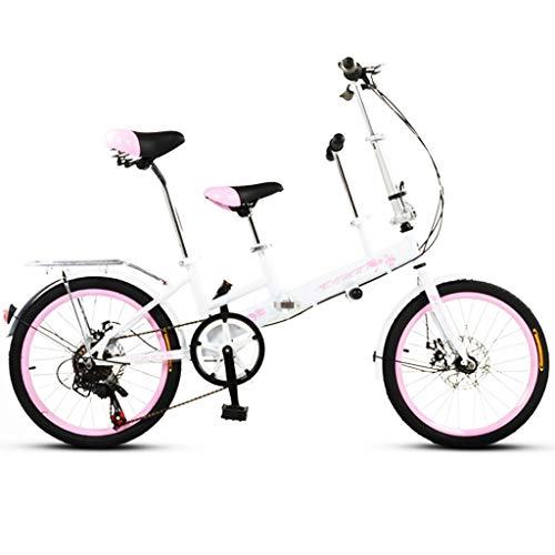 Paseo Bicicleta Plegable Padre-Hijo De Bicicletas 20 Pulgadas De Veloc
