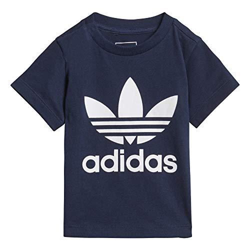 adidas I TRF tee - Camiseta, Bebé, Azul(Maruni/Blanco)