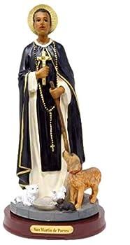 San Martin De Porres 12   St Martin of Porres Resin Statue Figurine New