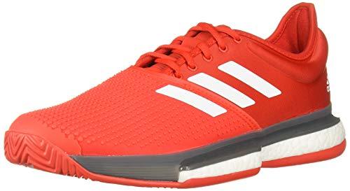 adidas Zapatos de tenis para hombre Solecourt Boost, rojo (Rojo/Blanco/Gris), 44 EU