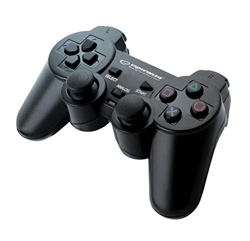 Esperanza CORSAIR Controller Gamepad für PS2/PS3/Computer/PC mit Vibration, Joystick, Plug und Play schwarz