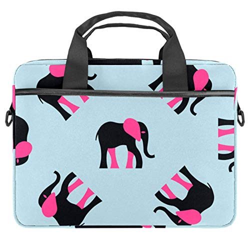 Laptop Bag Female Black Elephant Rosy Ears Notebook Sleeve with Handle 13.4-14.5 inches Carrying Shoulder Bag Briefcase