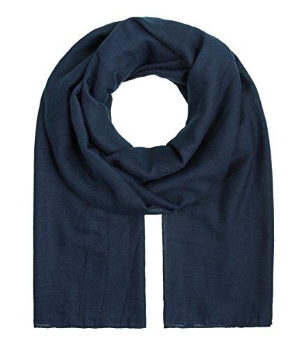"""Majea Tuch Aurora"""" großes Damen-Halstuch XXL Schal Damen Tuch Halstuch einfarbig uni unisex unifarben Schals und Tücher (navy)"""