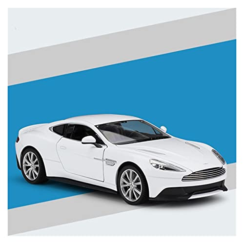 Kit Juguetes Coches Metal Resistente para Aston Martin Vanquish 1:24 Scale Kid Toy Diecast Alloy Metal Car Model Collection Coche De Simulación Maravilloso Regalo (Color : White)