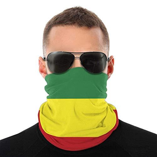 Máscara de verano con bandera de Etiopía, protección contra el polvo, sol, protección UV, polaina para el cuello, para correr, senderismo, motociclismo y ciclismo, color blanco y negro