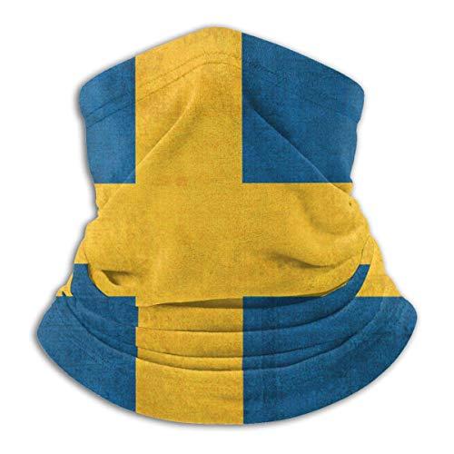 Dydan Tne Schweden Vintage Flagge Halswärmer Gamasche Sturmhaube Skischal Kaltes Wetter Gesicht Schal Winterhüte Kopfbedeckung für Männer Frauen Schwarz