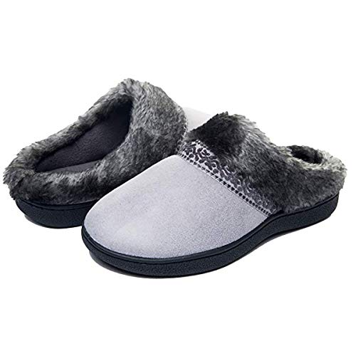 FOOTTECH Women's Memory Foam House Slippers Cozy Soft Home Shoes Anti Skid...